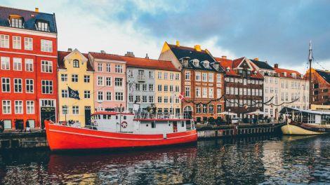 Danska Kopenhagen Nyhavn Rejser