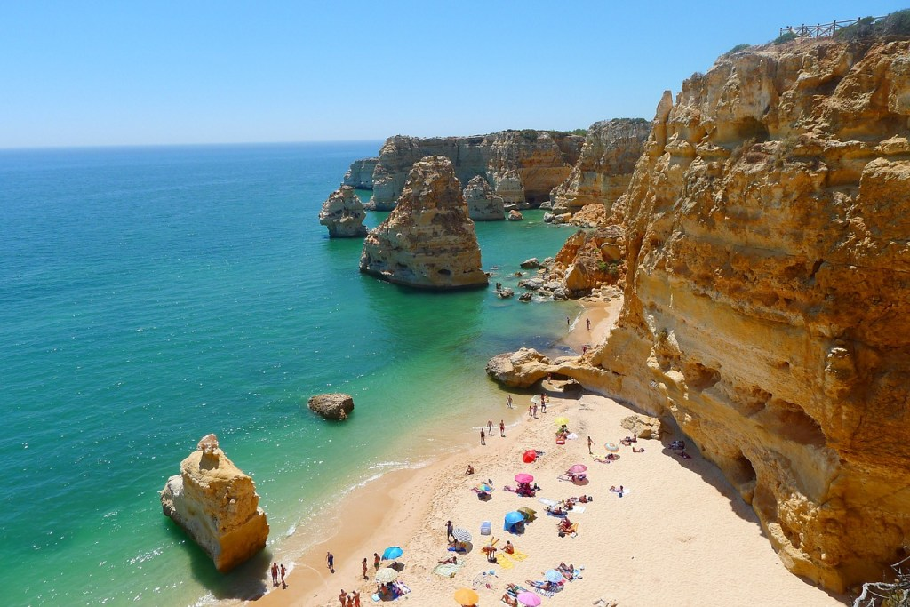 Portugal Algarve Beach Cliffs Travel