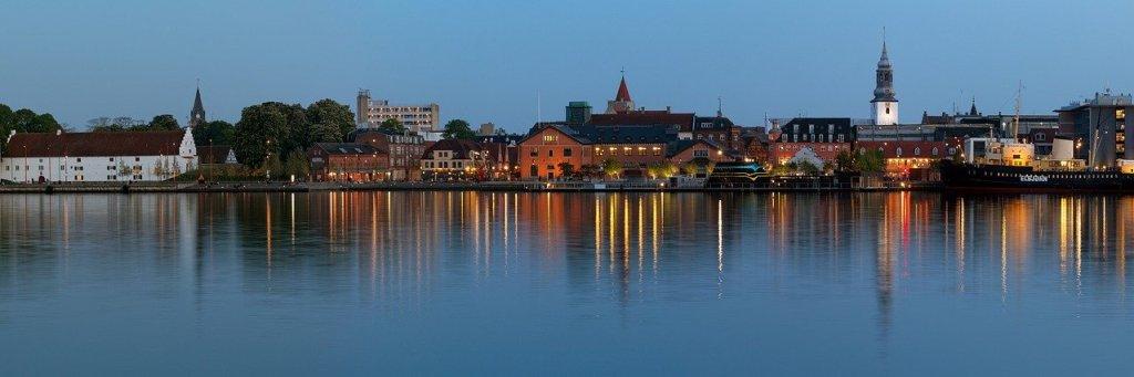 Denmark - Aalborg, skyline, harbor, Limfjord - paglalakbay