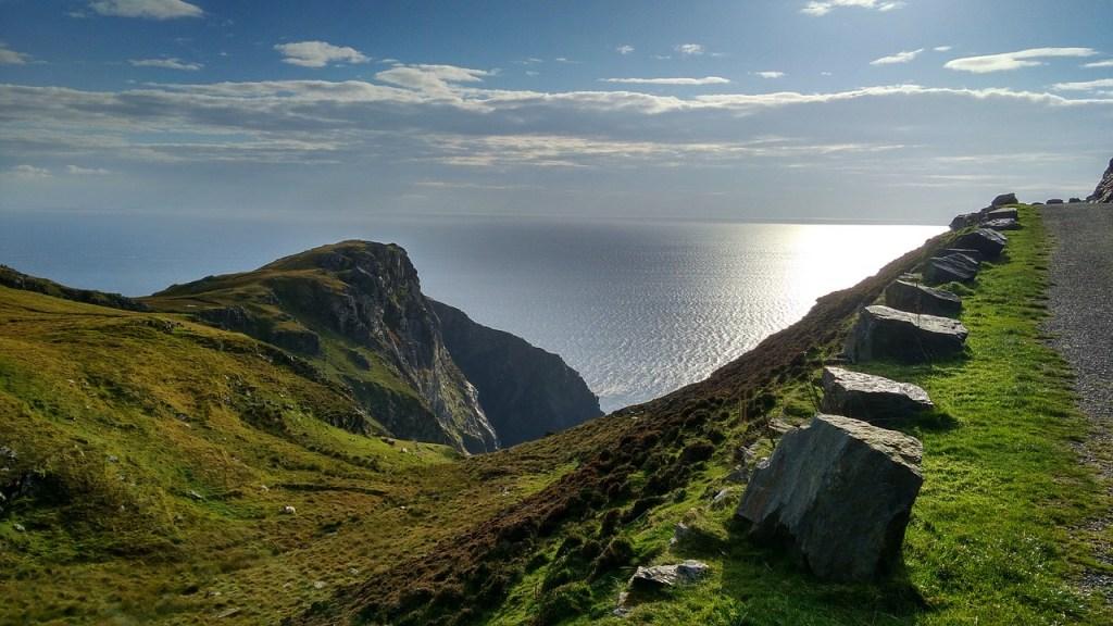 Irland. kyst, hav - rejser