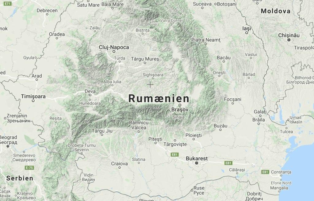 Rumænien kort rejser