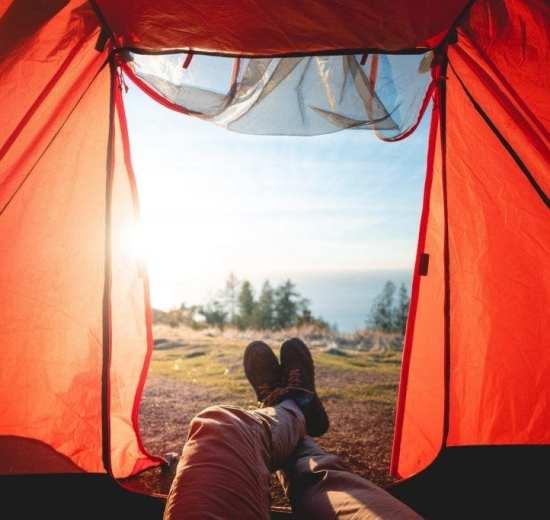 Telt, udsigt - rejser