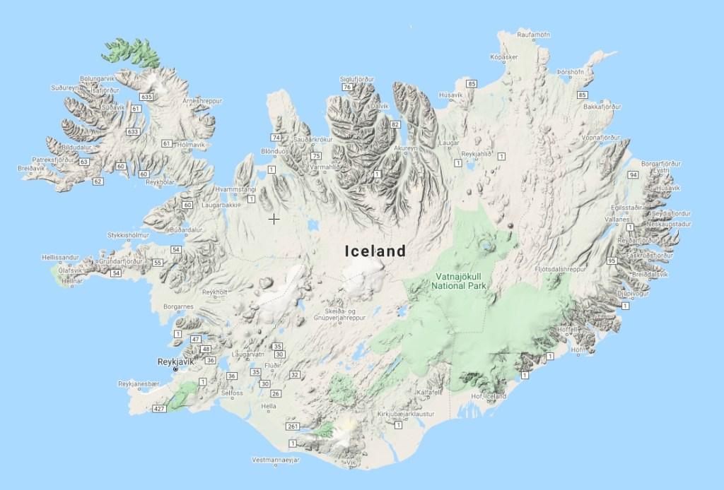 Kort - Island - Rejser