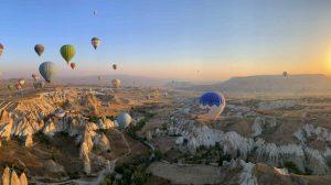 Tyrkiet Kappadokien ballonflyvning Cappadocia travel balloons rejser