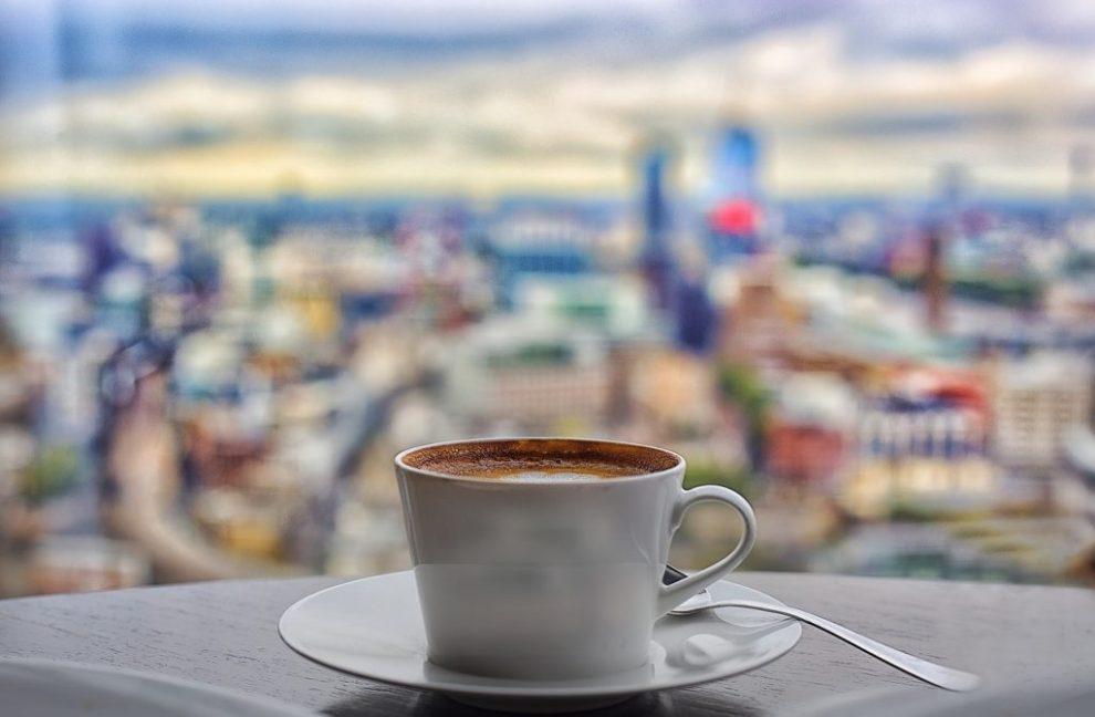 Storbritannia - London, kafé, The Shard - reise