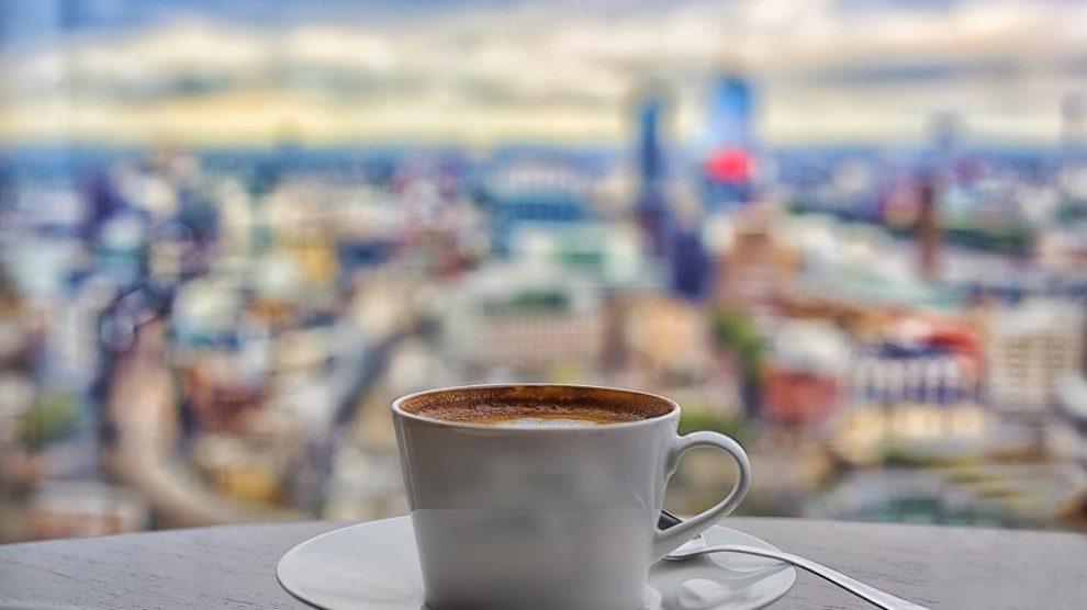 Storbritannien - London, café, The Shard - rejser