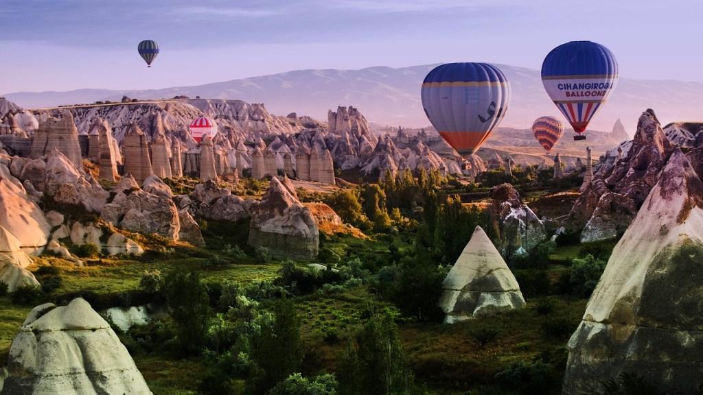 Tyrkiet - Kappadokien, balloner, klipper, rejse til Tyrkiet - rejser