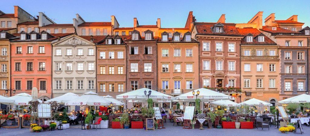 Polen - Warszawa, marked, boder - rejser
