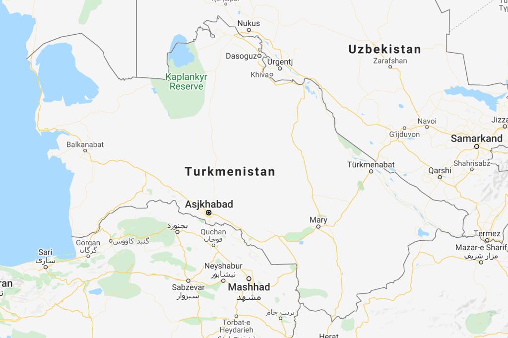 Turkménistan, voyage, carte, carte du turkménistan, carte du turkménistan, asie centrale, carte du turkménistan