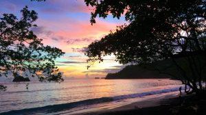 Guanacaste, coucher de soleil, voyage