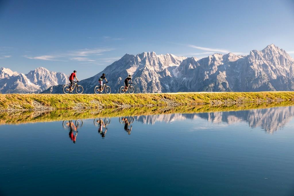 Østrig, Salzburgerland, Bikepark leogang, cykling, cykelruter, bjerge, sø, aktiv ferie, rejser