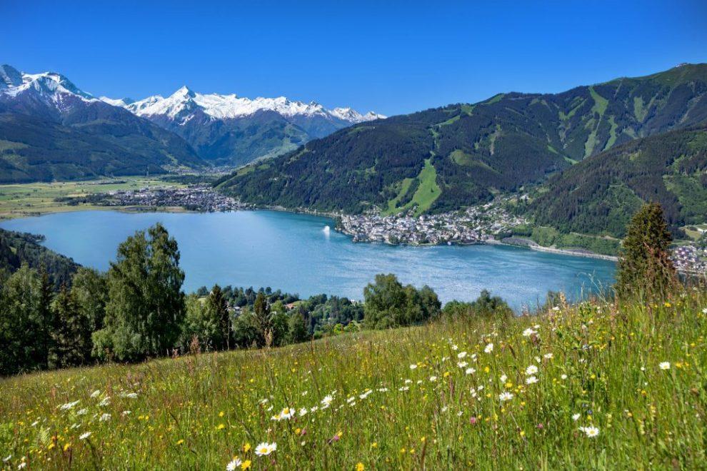 Austria, Zell am See, tanawin, lawa, bundok, tag-init, bakasyon