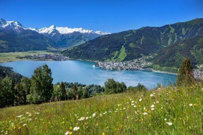 Austria, Zell am See, krajobraz, jezioro, góry, lato, wakacje