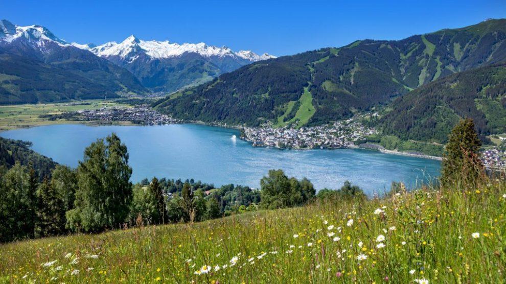 Autriche, Zell am See, paysage, lac, montagnes, été, vacances