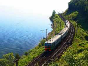 Nga. Bờ nam của hồ Baikal, Đường sắt xuyên Siberia, Mông Cổ, Trung Quốc, Nga, du lịch, du lịch toàn cảnh