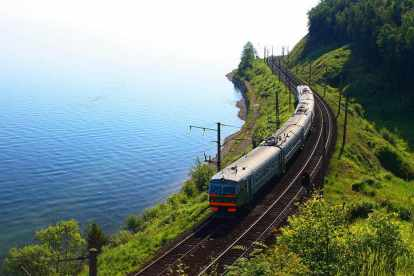 Russia. The southern shore of Lake Baikal, transsibiriske jernbane, mongoliet, kina, rusland, rejser, panorama travel