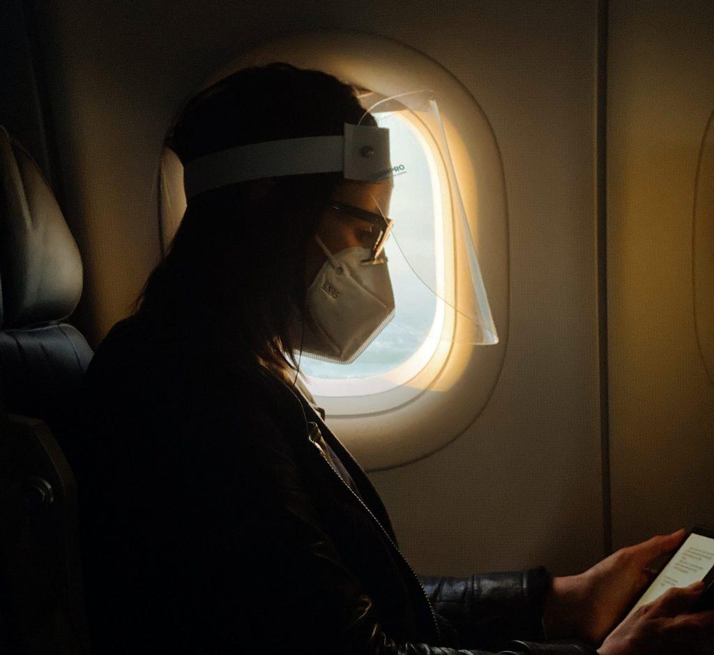 corona, visir, mundbind, fly, restriktioner, rejser