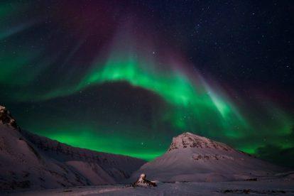 Norge, Svalbard, nordlys, Stjernegaard Travel, reise