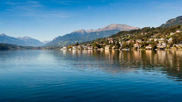 オーストリア、ミルシュテッター湖-カリンシア、湖、都市、旅行、ニルス旅行