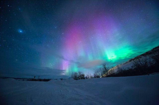 Aurores boréales, aurores boréales, Norvège, voyage