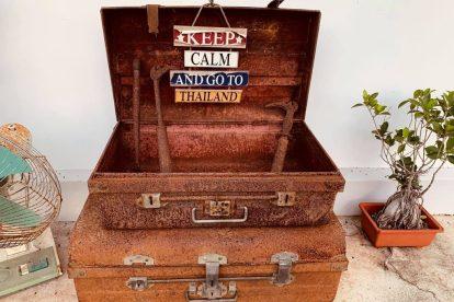 Thailand, resväska, håll dig lugn och åk till Thailand, resa