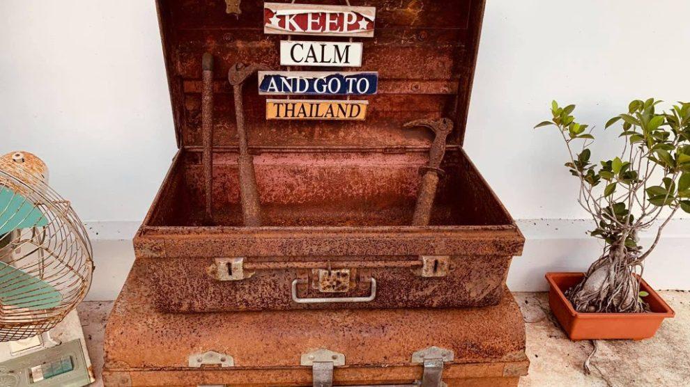 Thaïlande, valise, reste calme et va en Thaïlande, voyage