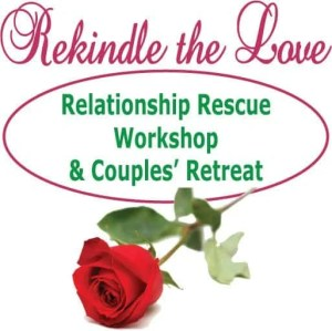 Rekindle the Love logo, featuring a single red rose