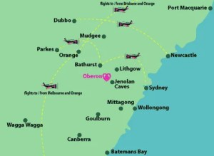 click this small map for the larger interactive map which you can use to discover the different ways that you can travel to Oberon
