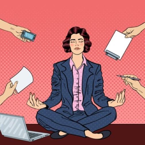 Mit Meditation trotz vieler Anforderungen entspannt sein.