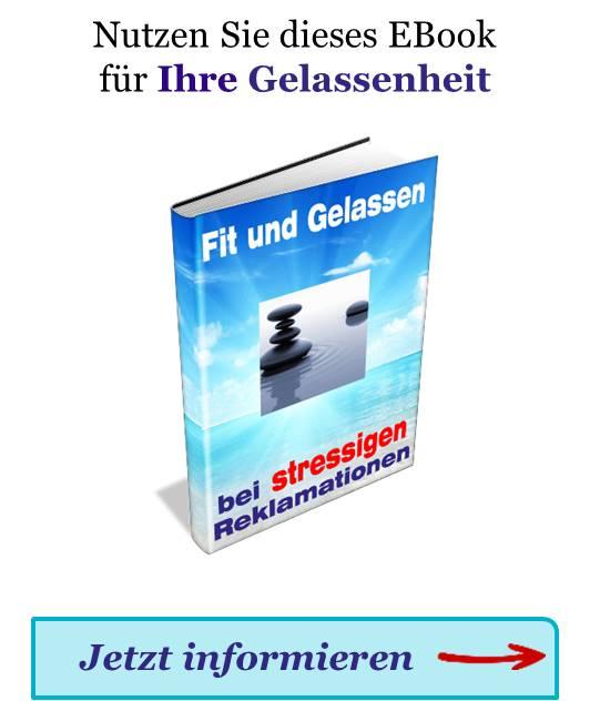Der Hinweis zum EBook Fit und Gelassen zum Abrufen von mehr Informationen.