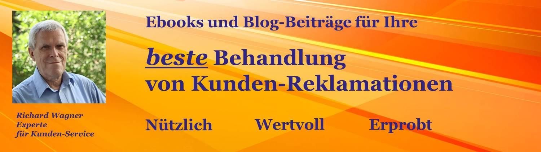 Startseite-Balken Blog und Top-EBooks für die beste Reklamations-Behandlung,
