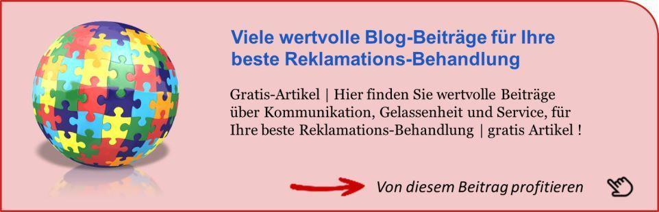 Hinweis ganzheitliche Reklamations-Behandlung - alle Blogbeiträge