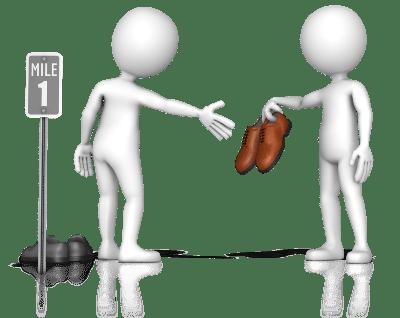 Schuhe des Kunden - Kunden verstehen bei Reklamationen