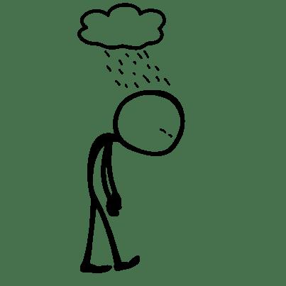 Mit gebeugter Haltung kann man nicht den Stress loswerden