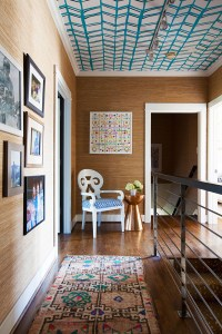 wallpapered-ceiling-and-grasscloth-walls