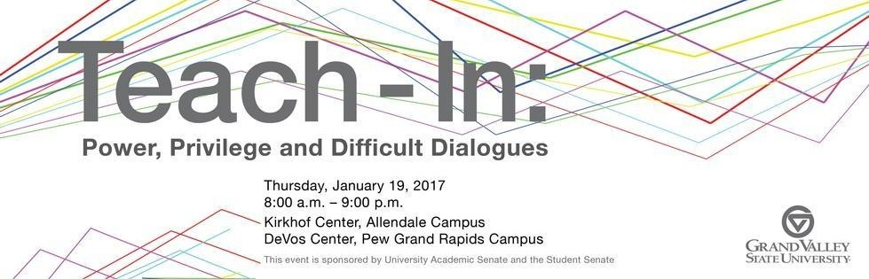 Workshops for The 2017 Teach-In at GVSU