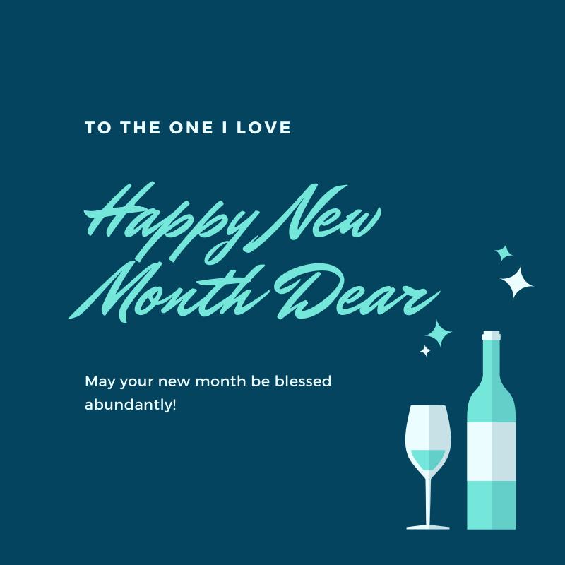 happy new month image