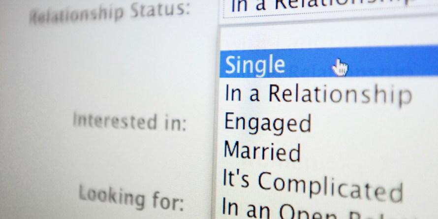 Cheating man - Facebook relationship status