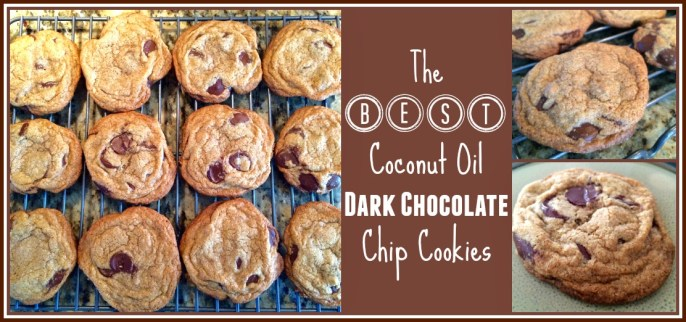 The BEST Coconut Oil Dark Chocolate Chip Cookies