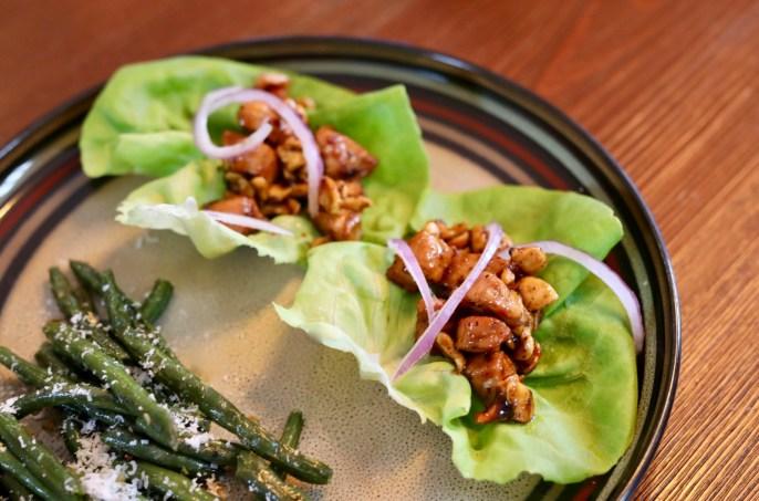 Cashew Chicken Lettuce Wraps Recipe