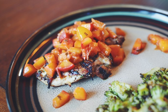 Grilled Chicken with Peach Chutney Recipe