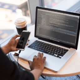 a man using software for your start-up business