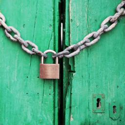 padlock representing password security