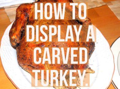 Displaying a turkey