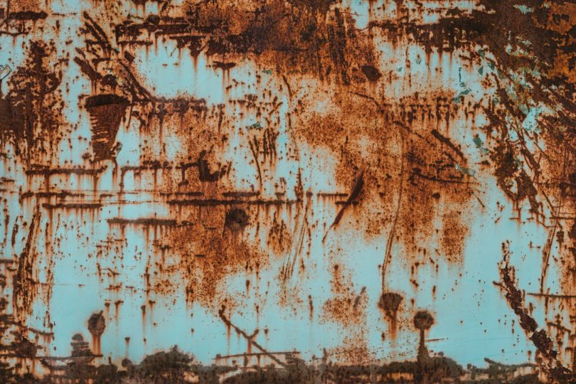 A lot of rusting happens you you dont keep learning.white and blue abstract painting