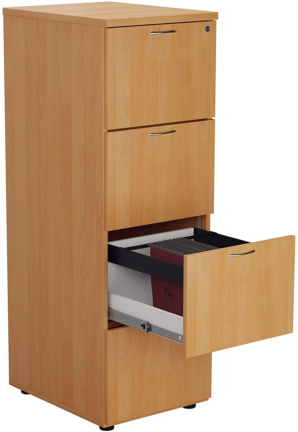 Relax Office Relax Office Smart Wooden Filing Cabinet With 4 Drawers540mm Wooden Filing Cabinet With 4 Drawers Office Storage File Organizers Lockable