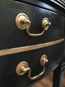 Gold hardware and gilded highlights
