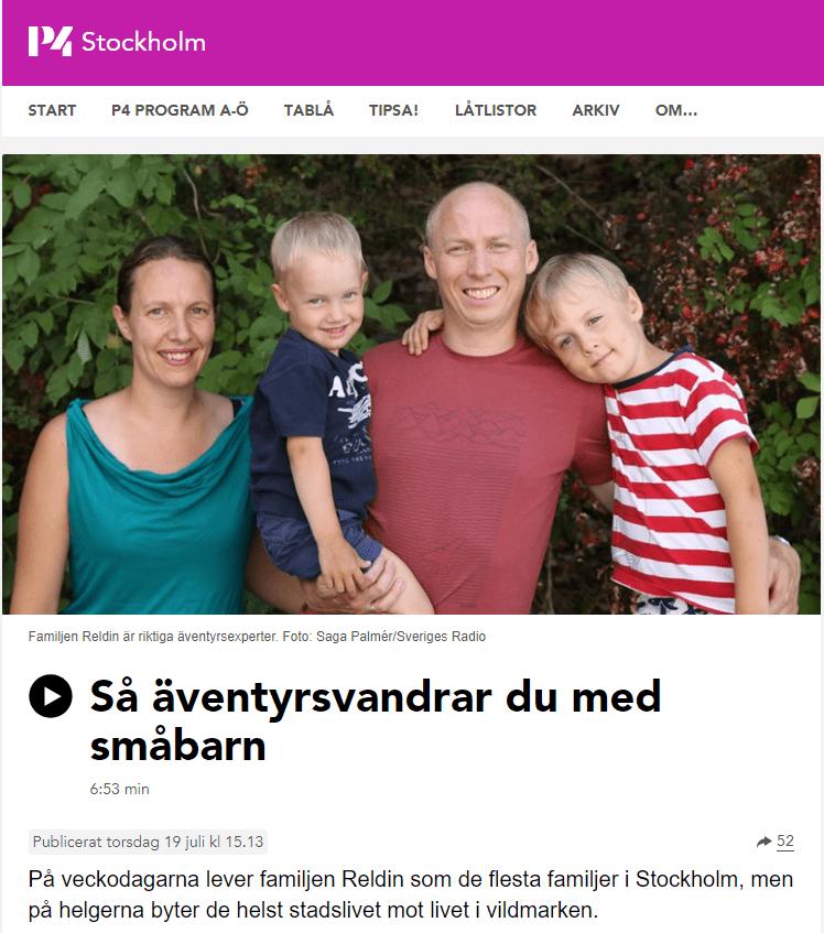 Reldin Adventures var med i P4 Stockholm i Sveriges Radio