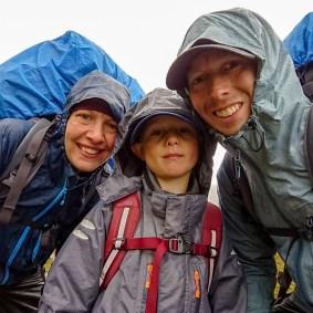 Reldin Adventures - Fjällräven Classic 2018 - Fjällvandring med barn i regn
