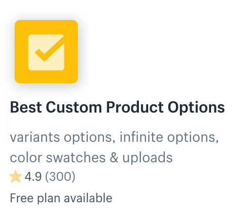 Best Custom Product Options App